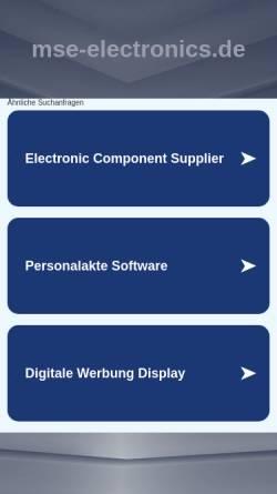 Vorschau der mobilen Webseite www.mse-electronics.de, Micro Solutions Engineering