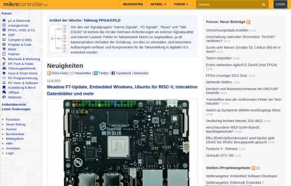 Vorschau von www.mikrocontroller.net, Mikrocontroller.net