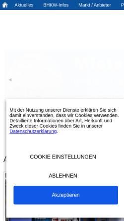 Vorschau der mobilen Webseite www.bhkw-infozentrum.de, BHKW-Infozentrum Rastatt