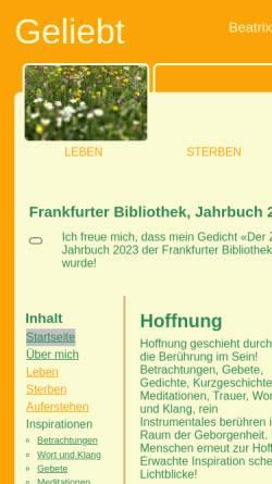 Vorschau der mobilen Webseite www.nusu.ch, Brechbühler, Beatrix