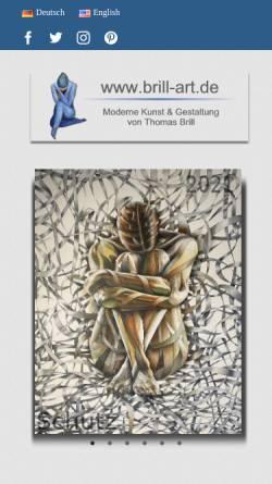 Vorschau der mobilen Webseite www.brill-art.de, Brill, Thomas