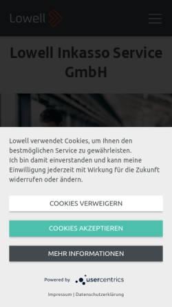 Vorschau der mobilen Webseite www.inkasso.at, IS-Inkasso Service GmbH & Co KG