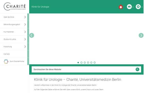 Vorschau von urologie.charite.de, Urologische Klinik und Poliklinik der Charité, Universitätsmedizin Berlin