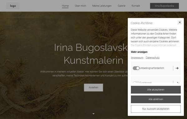 Vorschau von www.bugoslavska.de, Bugoslavska, Irina