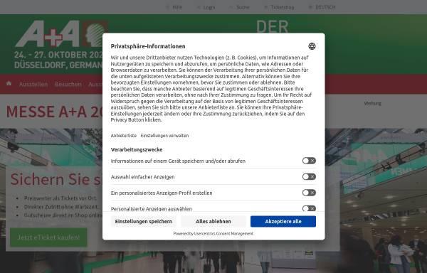 Vorschau von www.aplusa.de, A+A Online - Messe Düsseldorf