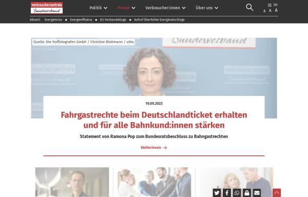 Vorschau von www.vzbv.de, Verbraucherzentrale Bundesverband e.V. (vzbv)