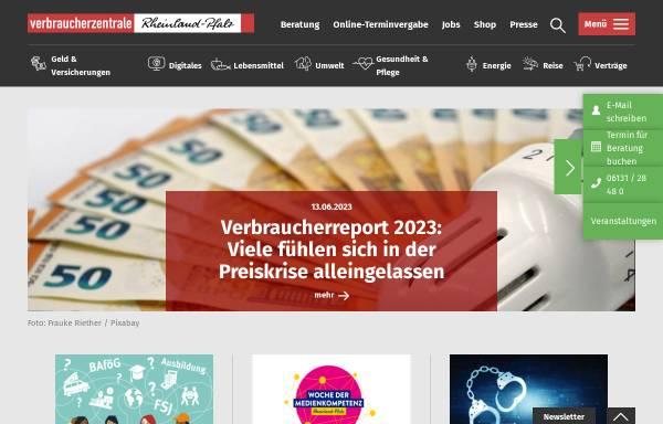 Vorschau von www.verbraucherzentrale-rlp.de, Verbraucherzentrale Rheinland-Pfalz e.V.