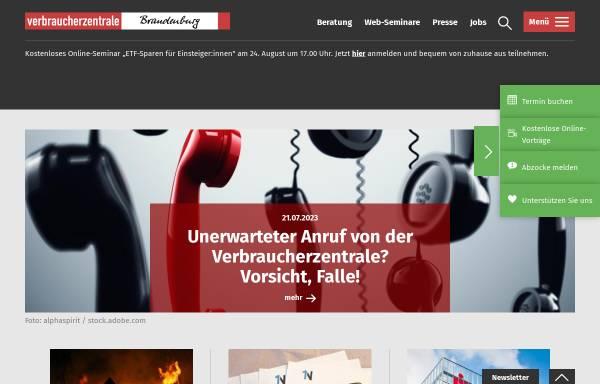 Vorschau von www.vzb.de, Verbraucherzentralen Deutschland