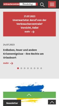 Vorschau der mobilen Webseite www.vzb.de, Verbraucherzentralen Deutschland