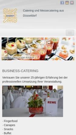 Vorschau der mobilen Webseite auszeit-dus.de, Auszeit Catering GmbH