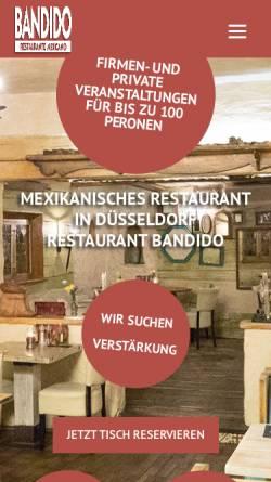 Vorschau der mobilen Webseite www.pssst-bandido.de, Pssst Bandido