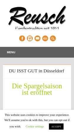 Vorschau der mobilen Webseite reusch-online.de, Restaurant Reusch