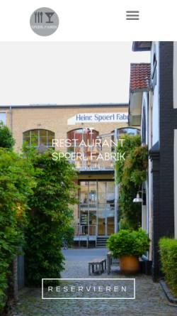 Vorschau der mobilen Webseite www.restaurant-spoerl-fabrik.de, Restaurant Spoerl Fabrik