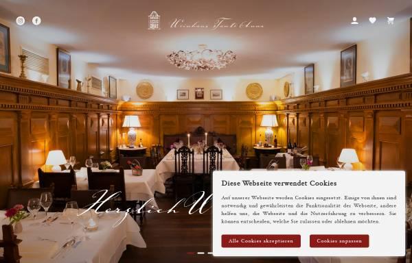 Vorschau von www.tanteanna.de, Restaurant Weinhaus Tante Anna