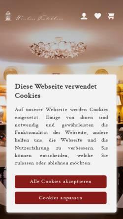 Vorschau der mobilen Webseite www.tanteanna.de, Restaurant Weinhaus Tante Anna