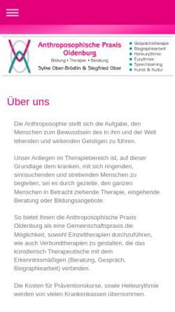 Vorschau der mobilen Webseite www.anthro-praxis-ol.de, Anthroposophische Praxis Oldenburg