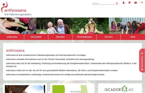 Vorschau von www.anthrosana.ch, Anthrosana
