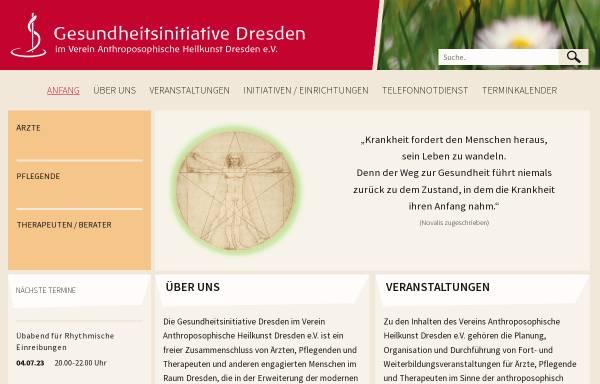 Vorschau von www.gesundheitsinitiative-dresden.de, Gesundheitsinitiative Dresden