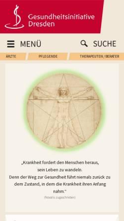 Vorschau der mobilen Webseite www.gesundheitsinitiative-dresden.de, Gesundheitsinitiative Dresden