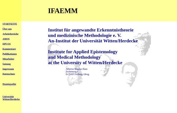Vorschau von www.ifaemm.de, Institut für angewandte Erkenntnistheorie und medizinische Methodologie - IFAEMM
