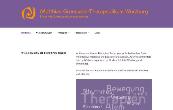 Vorschau von www.therapeutikum-wuerzburg.de, Matthias-Grünewald-Therapeutikum
