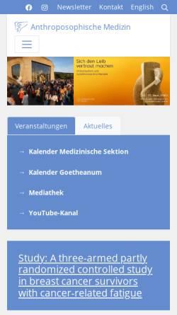 Vorschau der mobilen Webseite medsektion-goetheanum.org, Medizinische Sektion am Goetheanum