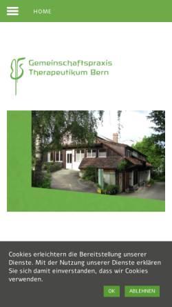 Vorschau der mobilen Webseite www.therapeutikum-bern.ch, Medizinisch-Künstlerisches Therapeutikum