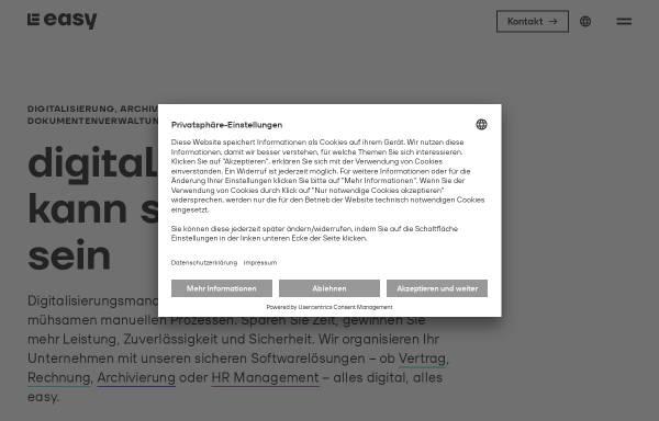 Vorschau von www.easy.de, Easy Software AG