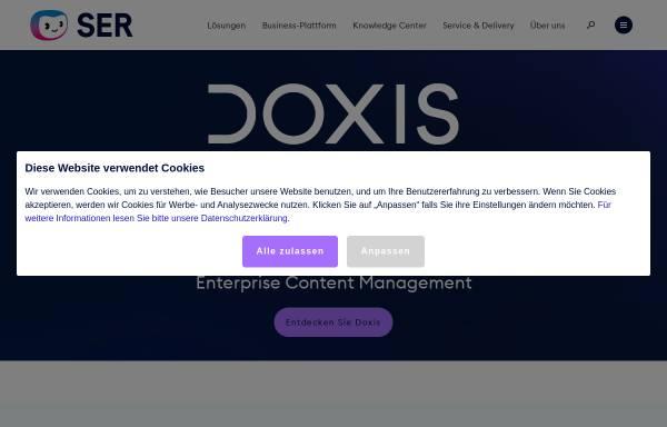 Vorschau von www.ser.de, SER Solutions Deutschland GmbH