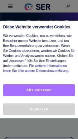 Vorschau der mobilen Webseite www.ser.de, SER Solutions Deutschland GmbH