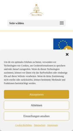 Vorschau der mobilen Webseite www.hotel-seeschloss.de, Hotel Seeschloss