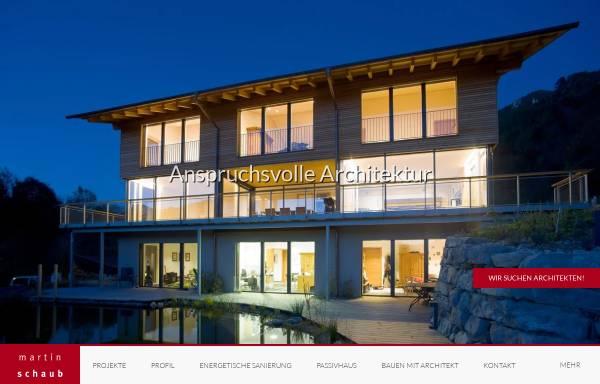 Vorschau von www.architekt-schaub.de, Martin Schaub