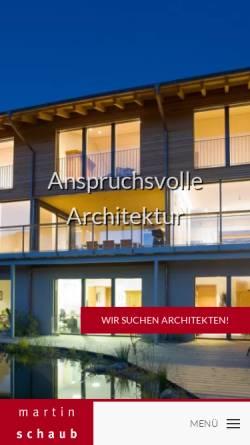 Vorschau der mobilen Webseite www.architekt-schaub.de, Martin Schaub