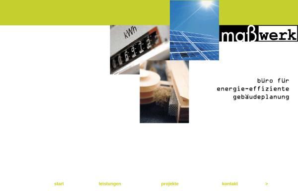 Vorschau von www.masswerk-architekten.de, maßwerk architekten - Dipl.Ing. Joachim Fürst