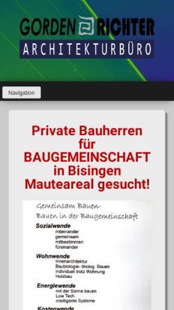 Vorschau der mobilen Webseite www.gorden-richter-architekt.de, Richter, Gorden