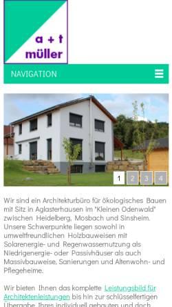 Vorschau der mobilen Webseite www.atm-mueller.de, A + T Müller, Architekten