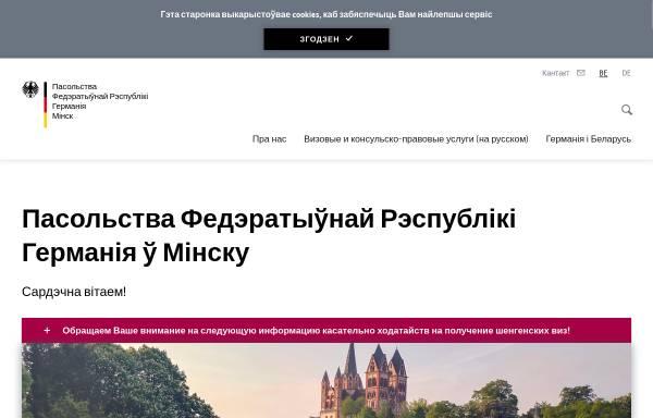 Vorschau von www.minsk.diplo.de, Belarus (Weißrußland), deutsche Botschaft Minsk
