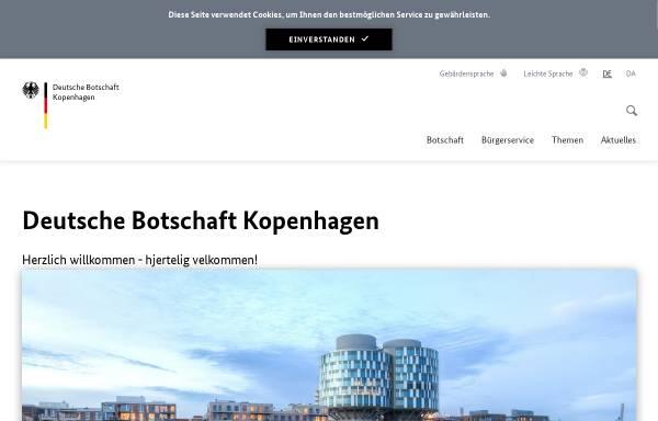 Vorschau von www.kopenhagen.diplo.de, Dänemark, deutsche Botschaft Kopenhagen