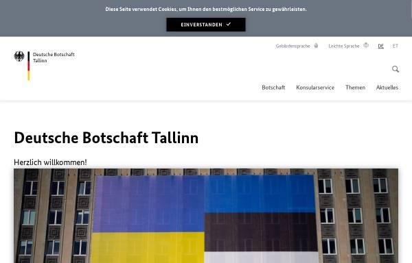 Vorschau von www.tallinn.diplo.de, Estland, deutsche Botschaft in Tallinin