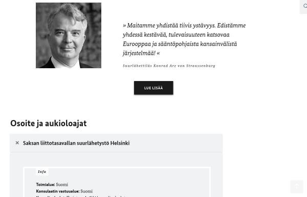 Vorschau von www.helsinki.diplo.de, Finnland, deutsche Botschaft in Helsinki
