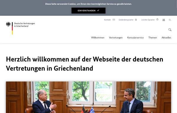 Vorschau von www.griechenland.diplo.de, Griechenland, deutsche Botschaft in Athen