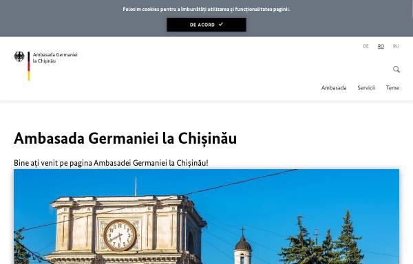 Vorschau von www.chisinau.diplo.de, Moldau, deutsch Botschaft in Chisinau