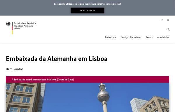 Vorschau von www.lissabon.diplo.de, Portugal, deutsche Botschaft Lissabon