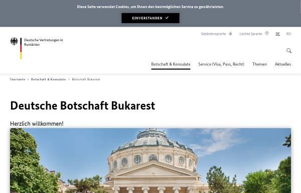 Vorschau von www.bukarest.diplo.de, Rumänien, deutsche Botschaft in Bukarest