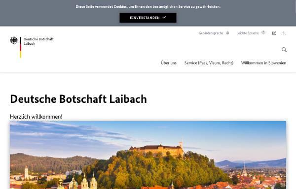 Vorschau von www.laibach.diplo.de, Slowenien, deutsche Botschaft in Laibach
