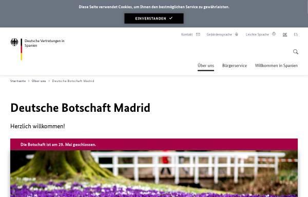 Vorschau von www.madrid.diplo.de, Spanien, deutsche Botschaft in Madrid