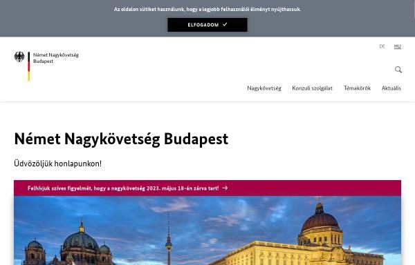 Vorschau von www.budapest.diplo.de, Ungarn, deutsche Botschaft in Budapest