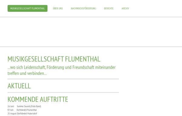 Vorschau von www.mgflumenthal.ch, MGF Musikgesellschaft Flumenthal
