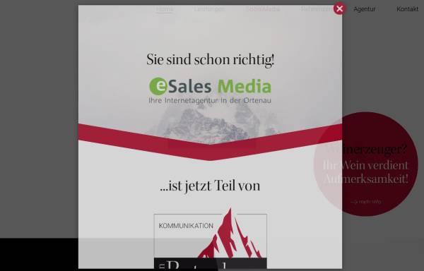 Vorschau von www.esales-media.de, ESales Media, Stefan Schnebelt