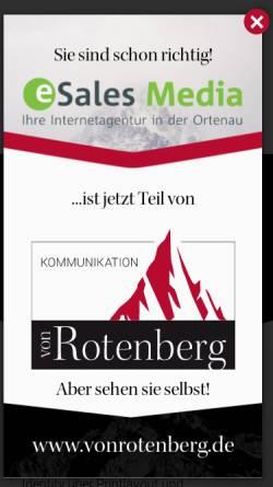 Vorschau der mobilen Webseite www.esales-media.de, ESales Media, Stefan Schnebelt